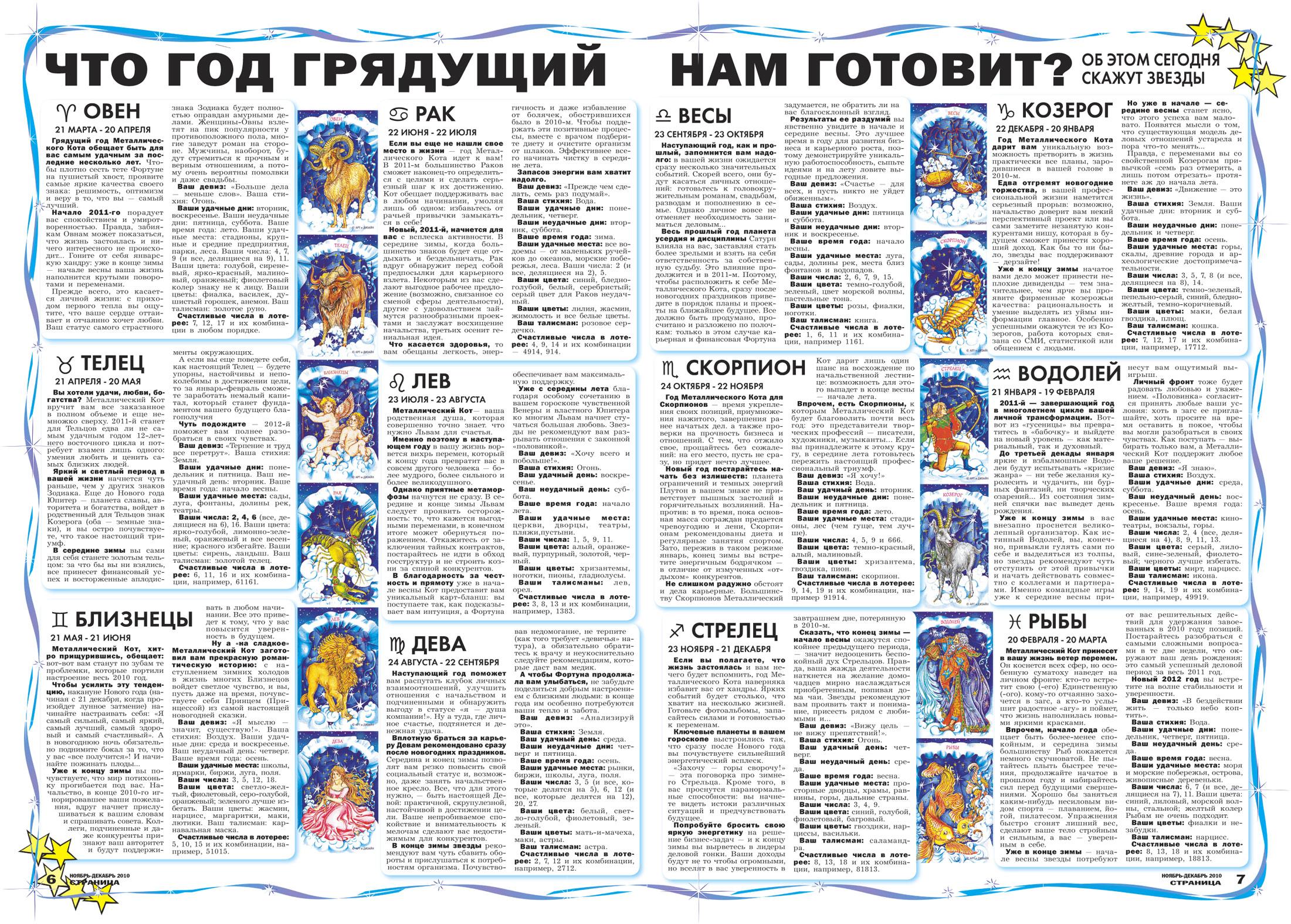Блог полезных советов: гороскоп на 2011 год для всех знаков зодиака.