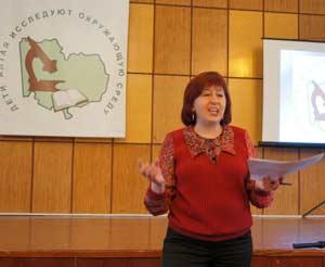 Перед участниками выступает Марина Михайловна Силантьева, д.б.н. профессор АлтГУ.