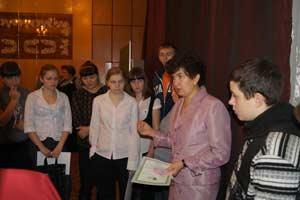 Участники окружной конференции в городе Камень-на-Оби.