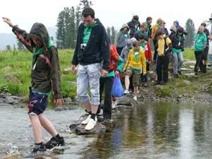Переход речки в природном парке «Ергаки»