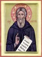 Отец ЗИНОН. Преподобный Сергий Радонежский, икона, 1999 год