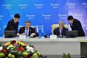 Губернатор Александр Карлин и аким Бердыбек Сапарбаев утвердили «дорожную карту» сотрудничества Алтайского края и Восточно-Казахстанской области на 2014-2015 годы