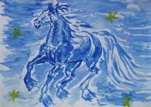 Синяя лошадь www.milosskaya.ru