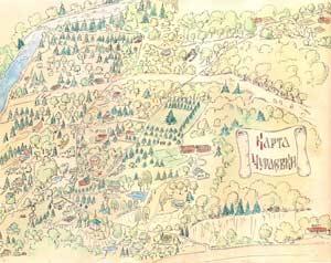 Карта Чураевки – русского поселка в штате Коннектикут, США, 1930-е гг.