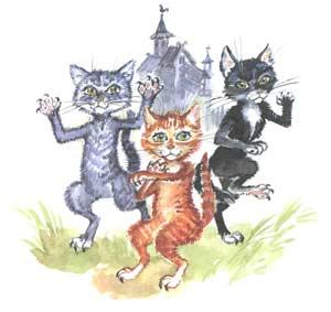 Три котенка и головка сыра