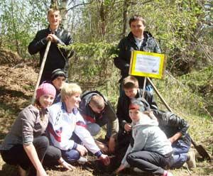 проведение экологической акции по посадке деревьев «Подари росток дерева будущему»