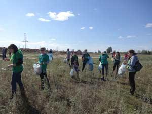 ребята эколого-туристического объединения «Ковылёк»