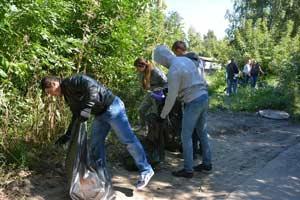 экологические акции по наведению санитарного порядка вблизи учреждений образования