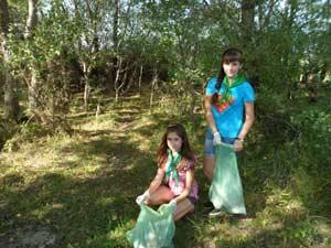 Члены эколого-краеведческого объединения «Глобус» присоединились к Всероссийской экологической акции «Зелёная Россия»