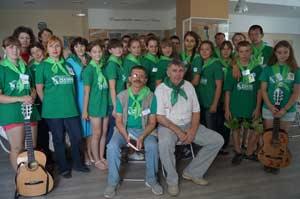 участники экспедиции «Начни с дома своего» встретились с писателем, журналистом газеты «Алтайская правда» Константином Сомовым