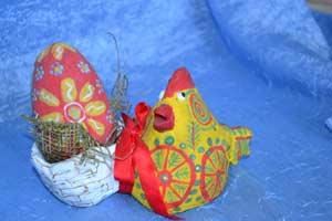Пасхальный сувенир «Курочка Ряба»
