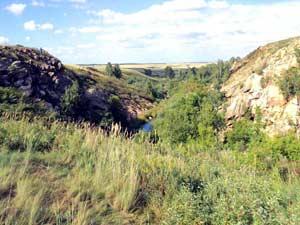 Скальный каньон на реке Кизиха