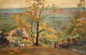 Сторона родная. Мешков В.Н. Ярмарка у Звенигорода. 1900