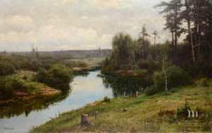 Сторона родная. Вельц И.А. Лесная речка. 1904