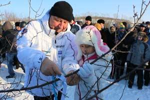 Александр Карлин на празднике «Алтайская зимовка»
