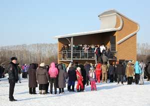 13 декабря в заказнике «Лебединый» на озере Светлом состоялось торжественное открытие смотровой площадки