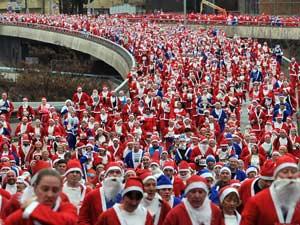Благотворительный забег Santa Dash