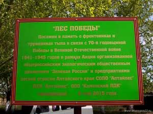 Село Вылково Тюменцевский район. Высадка аллеи в честь 70-летия Победы в Великой Отечественной войне