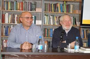Новосибирские писатели Вячеслав Шалыгин и Михаил Щукин
