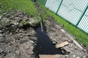 факты переполнения выгребной ямы канализационной системы