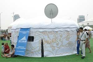 Инновационная юрта снабжена спутниковой
