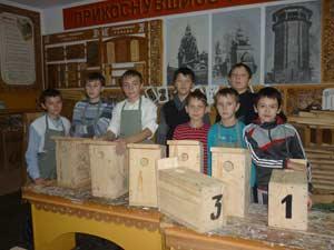 школьные лесничества Смастерили домики для птиц