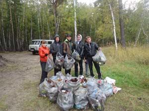 Экологический десант на озеро Горькое